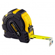 Komelon MagGrip Tape Measure, 2.5cm x 7.6m, Metal Case, Black/Yellow, 0.2cm Graduation