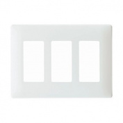 Legrand Three Gang Decorator Screwless Wall Plate in White