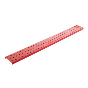 Alligator Board Powder Coated Metal Pegboard Strips with Flange in Red