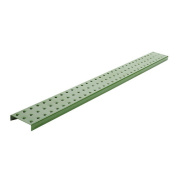 Alligator Board Powder Coated Metal Pegboard Strips with Flange in Green