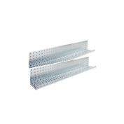 Alligator Board 80cm x 13cm Metal Pegboard Shelves