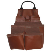Style N Craft Heavy Duty Tan Top Grain Leather 9 Pocket Nail and Tool Pouch