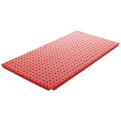 Alligator Board Powder Coated Metal Pegboard Panels with Flange in Red