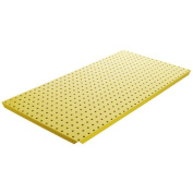 Alligator Board Powder Coated Metal Pegboard Panels with Flange in Yellow