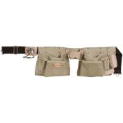 Style N Craft Grey Top Grain Leather 10 Pocket Tool Belt