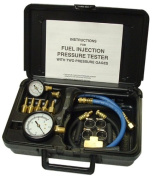 SG Tool Aid 33980 Fuel Injection Pressure Tester with Two Gauges in Moulded Plastic Storage Case