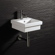 Bissonnet Area Boutique Ceramic Rectangular Drop-In Bathroom Sink with Overflow