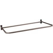 Barclay 137.2cm Cast Iron Roll Top Tub, Filler, Shower Rod, Supplies and Drain Kit, Brushed Nickel