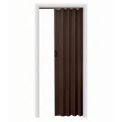 HomeStyles Plaza Vinyl Accordion Door, 91.4cm x 203.2cm , Espresso