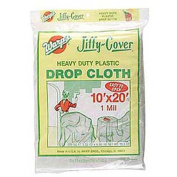 Warp Brothers 10ft. X 20ft. Clear Jiffy Cover Heavy Duty Plastic Drop Cloth JC-102