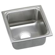 Elkay LFR1515 Gourmet Lustertone Stainless Steel Single Bowl Top Mount Bar Sink