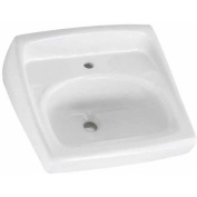 American Standard 0356.921.020 Lucerne Wall Mounted Lavatory Sink for Wall Hangers (included) or Concealed Arms (not included) with Single Faucet Hole on Right, White