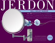 Jerdon 20.3cm Wall Mount Mirror, 8x Magnification, Nickel Finish