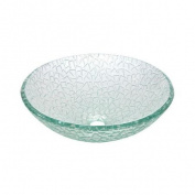 Elements of Design Nordica Glacier Vessel Sink in Crystal Clear