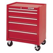 Waterloo Shop Series 66cm . Red 5 Drawer Cabinet - 18D in.