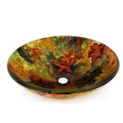 Legion Furniture Fall Leaves Vessel Sink