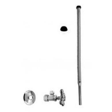 WestBrass D105K15X Satin Nickel Supply Kit - 1.6cm . OD x 1cm . OD x 38.1cm . Corrugated