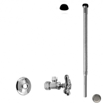 WestBrass D105K12X Satin Nickel Supply Kit - 1.6cm . OD x 1cm . OD x 30.5cm . Corrugated