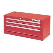 Waterloo Shop Series 66cm . Red 3 Drawer Intermediate Chest