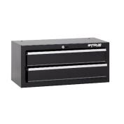 Waterloo Shop Series 66cm . Black 2 Drawer Intermediate Chest