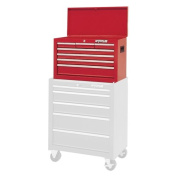 Waterloo Shop Series 66cm . Red 7 Drawer Chest