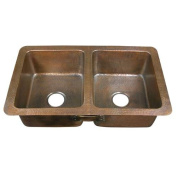 Barclay Double Bowl Drop-In Kitchen Sink