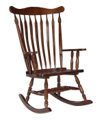 International Concepts Solid Wood Rocker in Cherry Finish