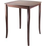WinsomeTrading 94733 Inglewood High Table Curved Top - Antique Walnut