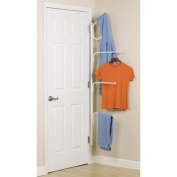 Household Essentials Hinge It Clutterbuster Four Bar and Hook Valet, White