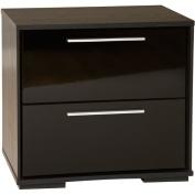 South Shore Furniture Nightstands Mikka 2-Drawer Nightstand in Black Oak 3541060