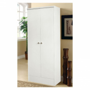 Home Source Industries Two Door Kitchen Cabinet in White