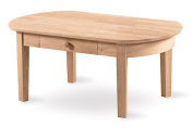 International Concepts Unfinished Wood Philips Coffee Table