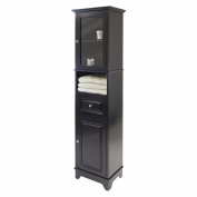 Winsome Alps Tall Cabinet with Glass Door