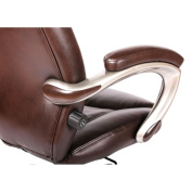 Granton Leather Executive Chair with Adjustable Lumbar Support, Mocha Brown