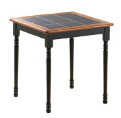 Boraam 70005 Square Tile Top Table, 80cm , Black/Cherry