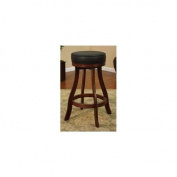 American Heritage Designer Stool in Suede with Black Leatherette