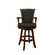 American Heritage Auburn Stool in Suede with Black Leather