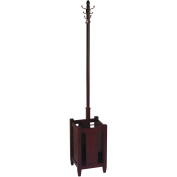 Office Star Products Espresso Collection Coat Rack, Espresso