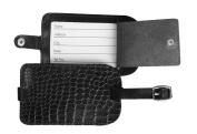 Dacasso 2000 Series Crocodile Embossed Leather Luggage Tag