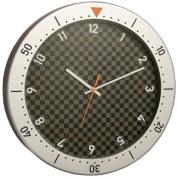 Bai Design Speedmaster Wall Clock in Silver and Black