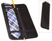 Living Health Products TIE-CASE-001 Tie Case For Travel - Leather Travel Tie Case