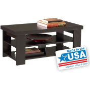 Ameriwood 5187012YCOM Hollowcore Coffee Table Black Forest