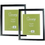Canopy Float Picture Frame, Black, Set of 2