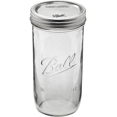 Ball 9-Count 710ml Wide Mouth Jars with Lids and Bands