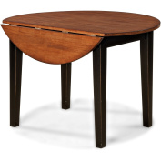 Imagio Home Drop Leaf Arlington Dining Table, Black and Java