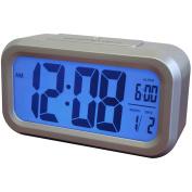 Westclox LCD Alarm Clock, Silver