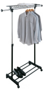 Organize It All 1703 Adjustable Garment Rack with Shelf