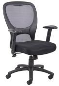 Boss B6508 25D Budget Mesh Task Chair - Black