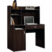 SAUDER Desks Beginnings Collection 110cm . Student Desk with Hutch in Cinnamon Cherry 413084