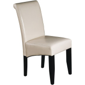 Office Star Products MET86CM Metro Parsons Dining Chair - Cream Eco Leather
